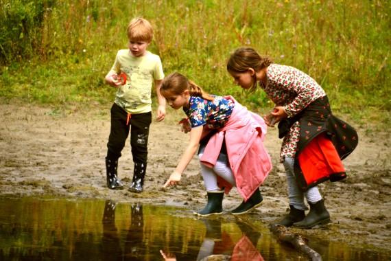 child lake explore animation