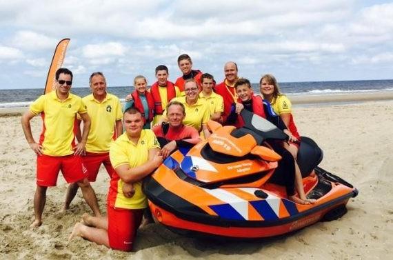 rescue brigade heemskerk beach sea boat