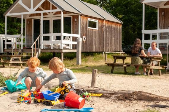 Beach house exterior and play