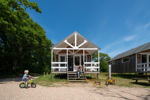 Beach house outside