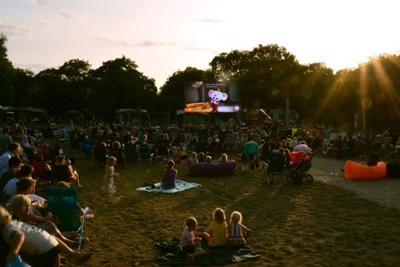 outdoor cinema movie night Geversduin