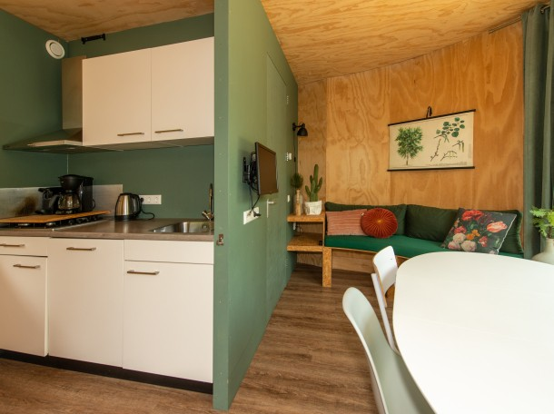 treehouse kitchen cooking cabin woodcabin camping geversduin holland
